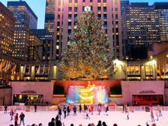 纽约滑冰 - 在洛克菲勒中心滑冰