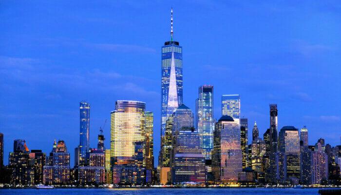环线观光纽约港口灯光游轮 - 夜景
