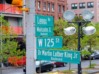 纽约哈林区 - 路牌