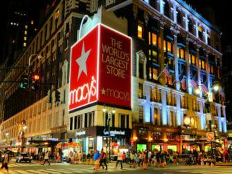 纽约梅西百货 - 夜景