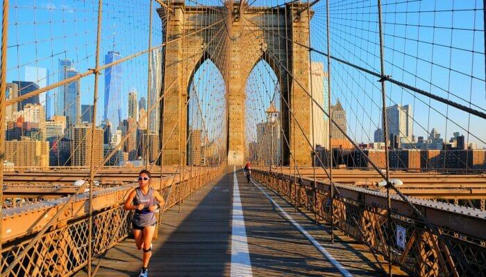布鲁克林大桥 - 慢跑