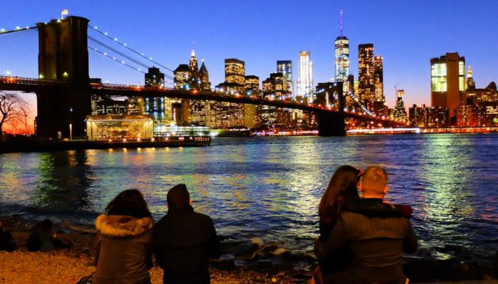 布鲁克林大桥 - 眺望天际线