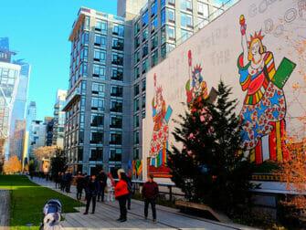 纽约高线公园 - 壁画