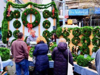 纽约的集市-联合广场圣诞集市花环