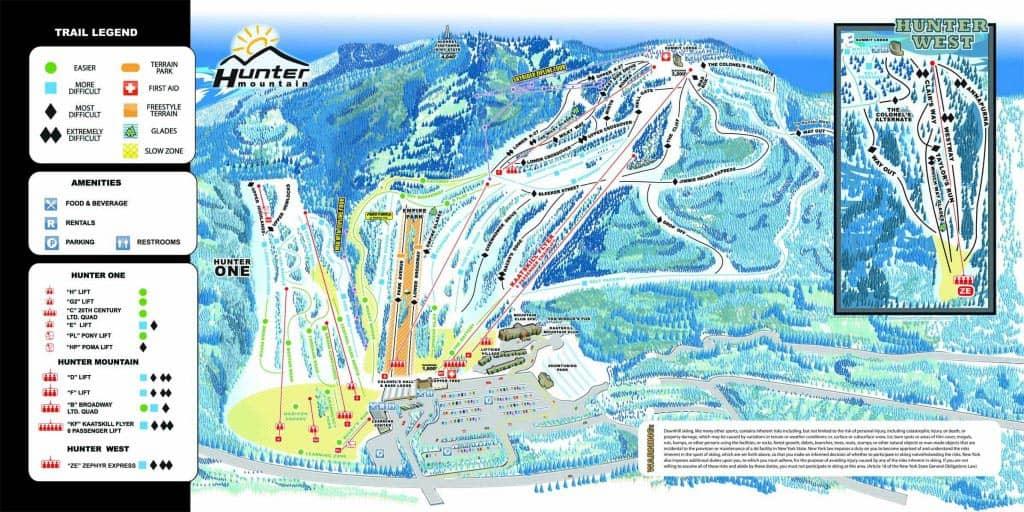 纽约滑雪一日游 - 雪道地图