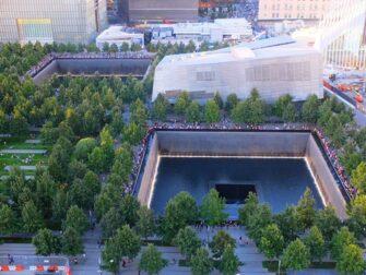 纽约9/11纪念馆 - 从高处俯瞰