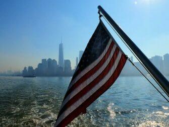 纽约埃利斯岛 - 眺望曼哈顿