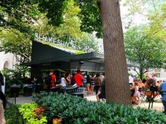 纽约公园精选 - 麦迪逊广场公园的Shake Shack