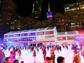 纽约圣诞季 - 在布莱恩公园溜冰