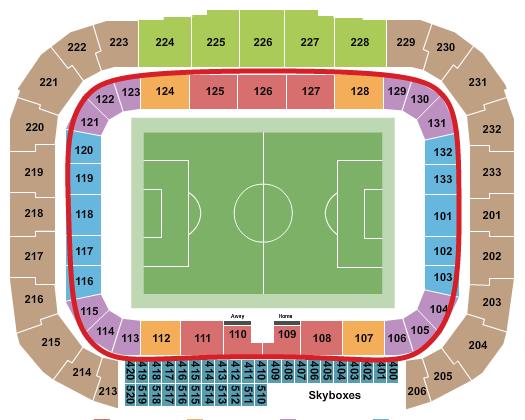 纽约红牛队门票 - 红牛竞技场座位图