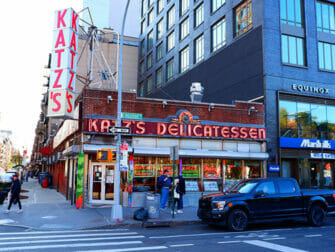 纽约下东区 - 卡茨的熟食店