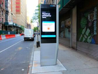 纽约的免费WiFi - 地铁站的免费WiFi