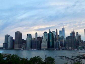 纽约夜游 - 从布鲁克林看天际线