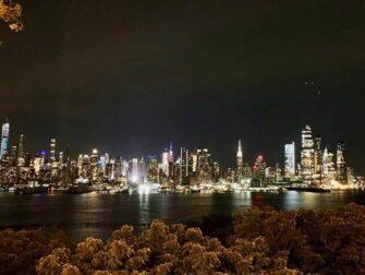 纽约夜游 - 从新泽西看天际线