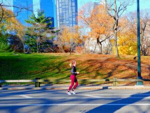 在纽约跑步