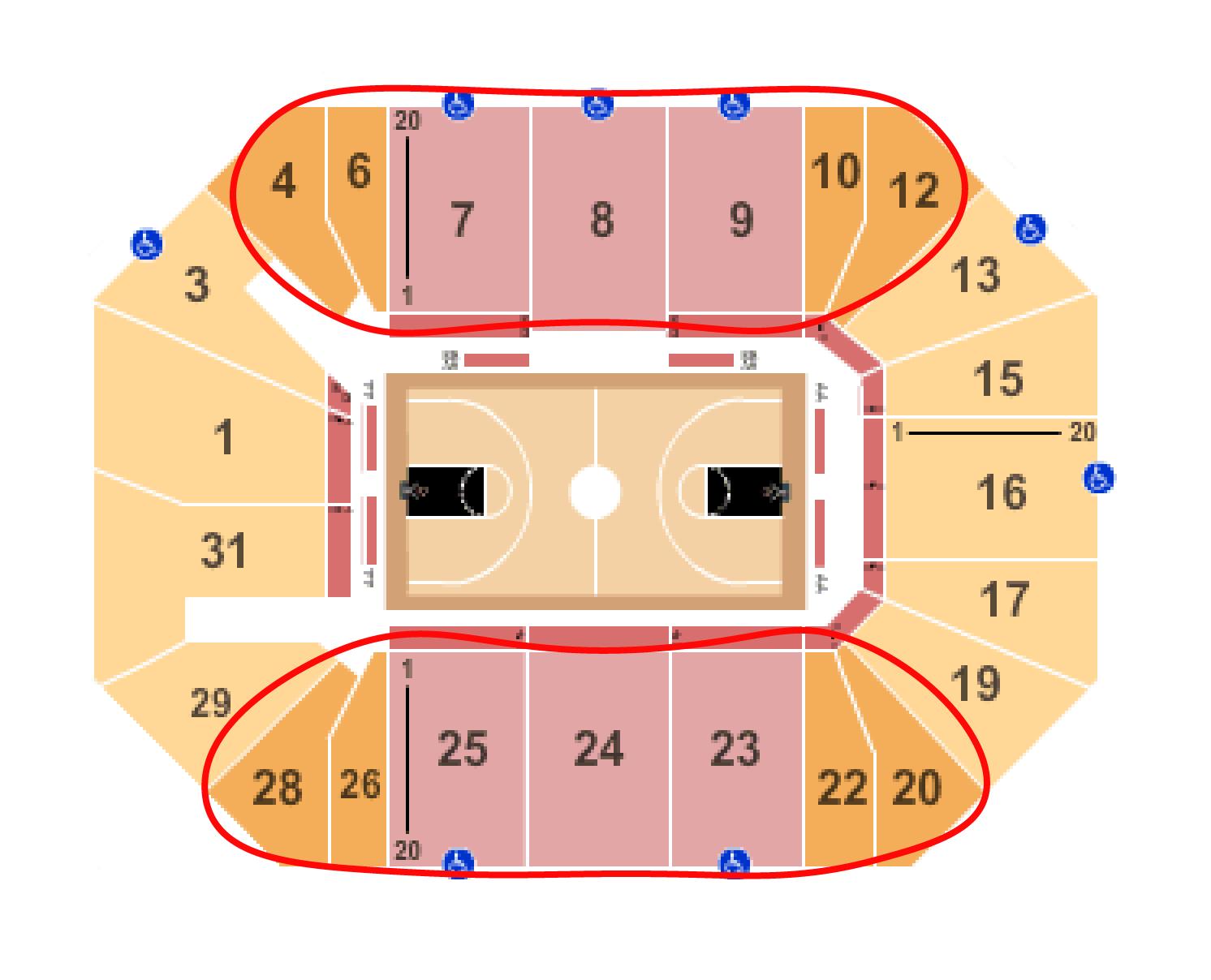纽约自由人篮球队门票 - 巴克莱中心座位图