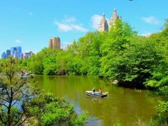 在中央公园划船 - 情侣划船