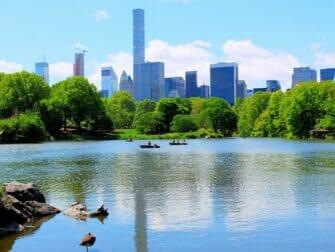 在中央公园划船 - 湖