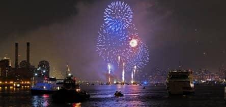 纽约跨年夜游船观光