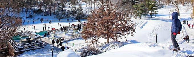 纽约市附近的滑雪胜地