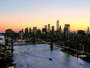 纽约夜间直升机和游船观光