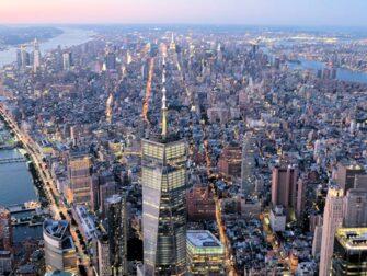 纽约夜间直升机和游船观光 - 自由塔