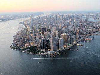 纽约夜间直升机和游船观光 - 曼哈顿