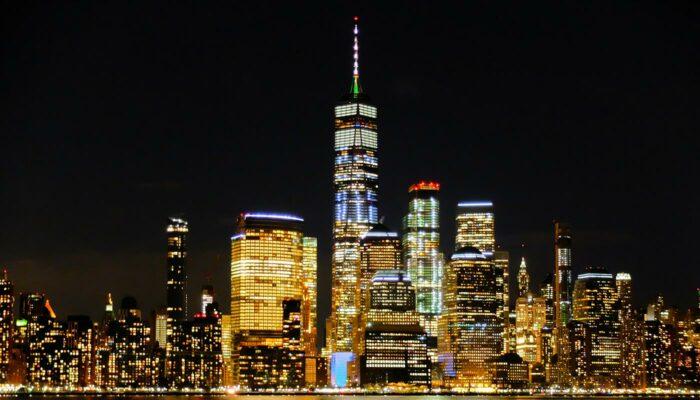 纽约夜间直升机和游船观光 - 天际线