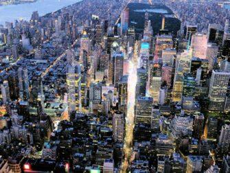 纽约夜间直升机和游船观光 - 时代广场