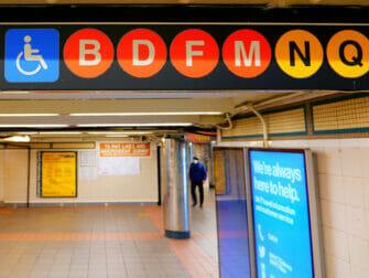 纽约的无障碍设施 - 地铁