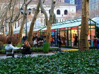 纽约的圣诞市场 - 布莱恩公园市场