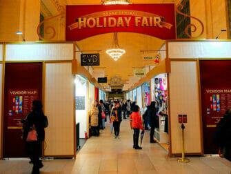纽约的圣诞市场 - 中央车站