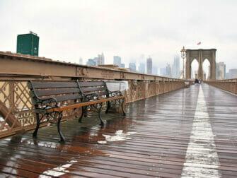 纽约的雨 - 雨中的布鲁克林大桥