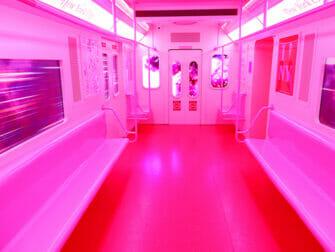 纽约冰淇淋博物馆 - 粉色地铁车厢