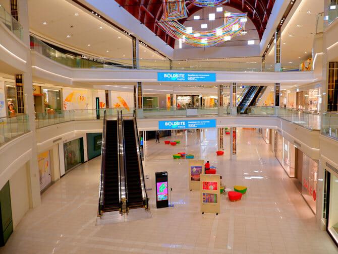 纽约附近的American Dream Mall - 商场内部