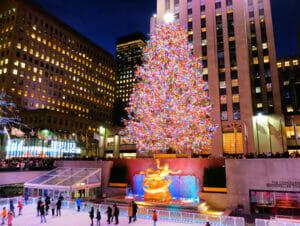 洛克菲勒中心圣诞树点灯仪式