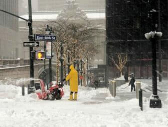 纽约的雪季 - 街道